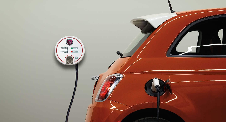 2018 Fiat 500e charging