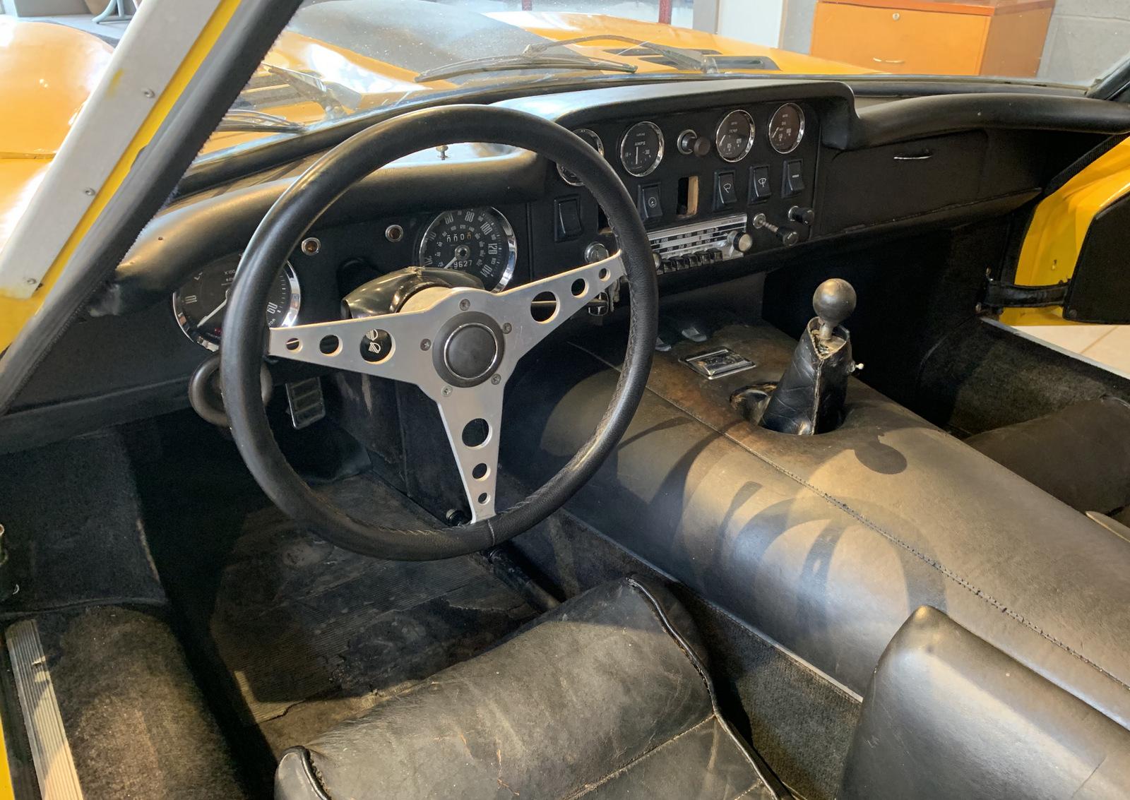 1969 Marcos GT steering wheel