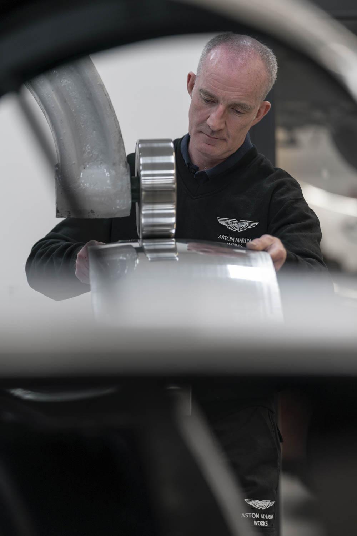 2019 Aston Martin DB4 GT Zagato being worked on