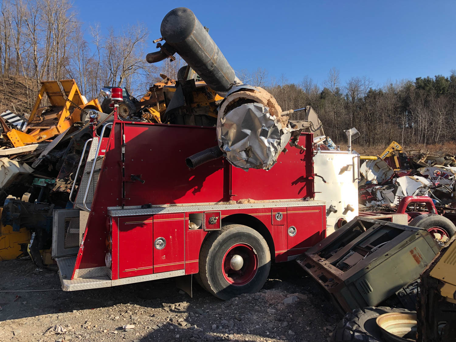 remnants of a retired fire truck