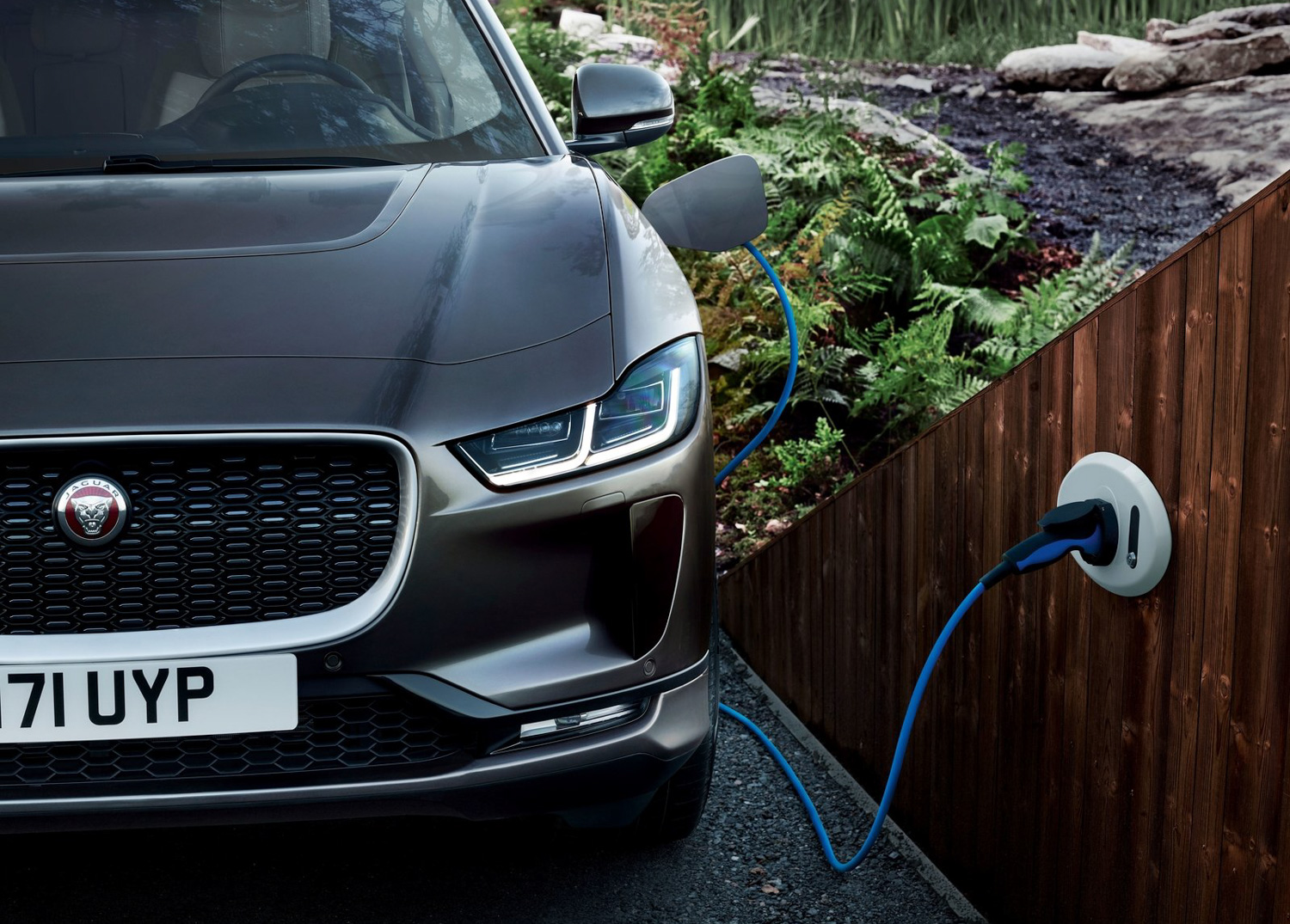 2019 Jaguar I-Pace plugged in