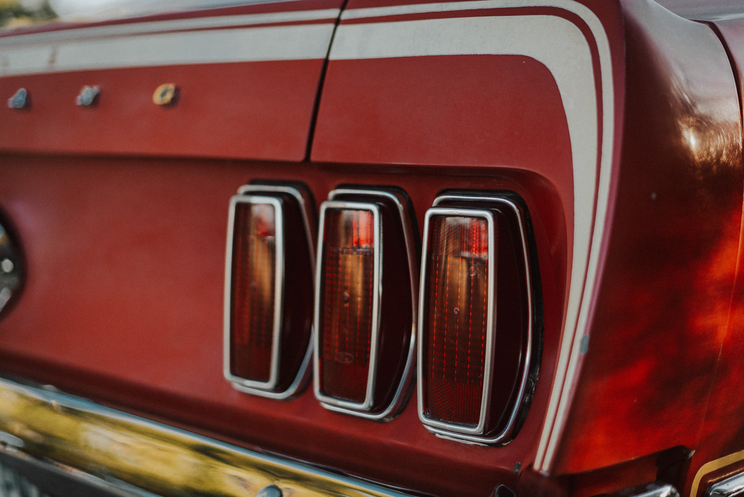 1969 Ford Mustang Mach 1 taillight detail