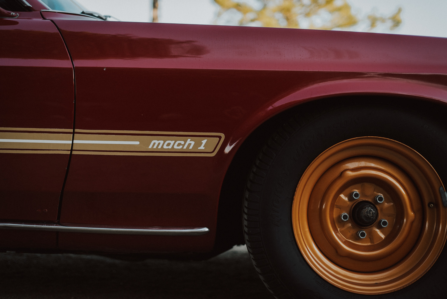 1969 Ford Mustang Mach 1 front wheel detail