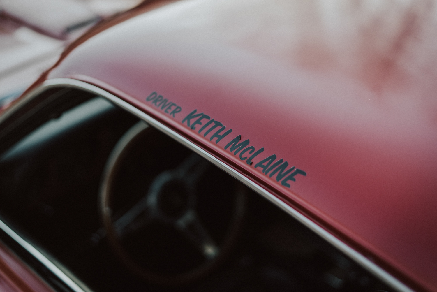 1969 Ford Mustang Mach 1 driver name