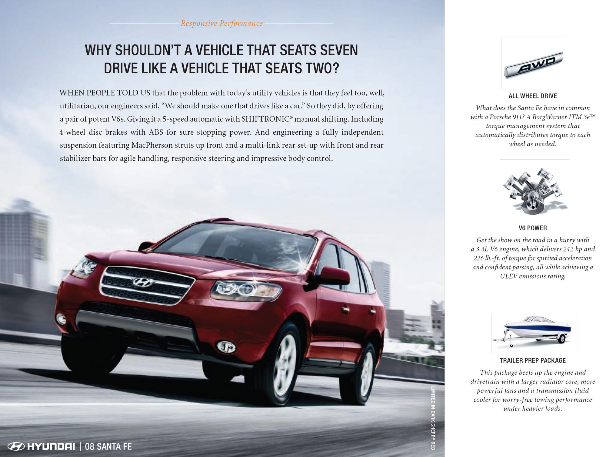 2008 Hyundai Santa Fe ad