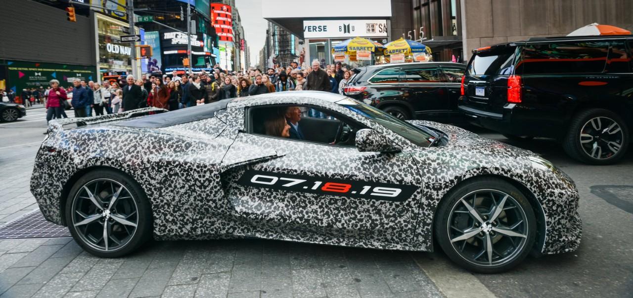 C8 Corvette Camo Official announcement  new york streets