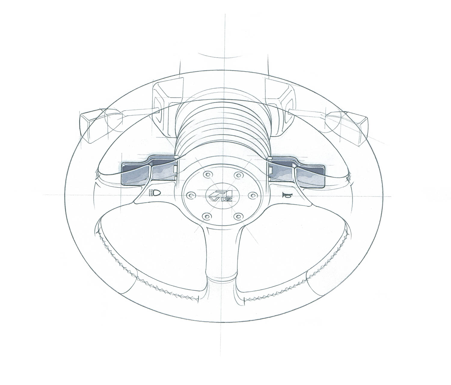 McLaren F1 steering wheel sketch