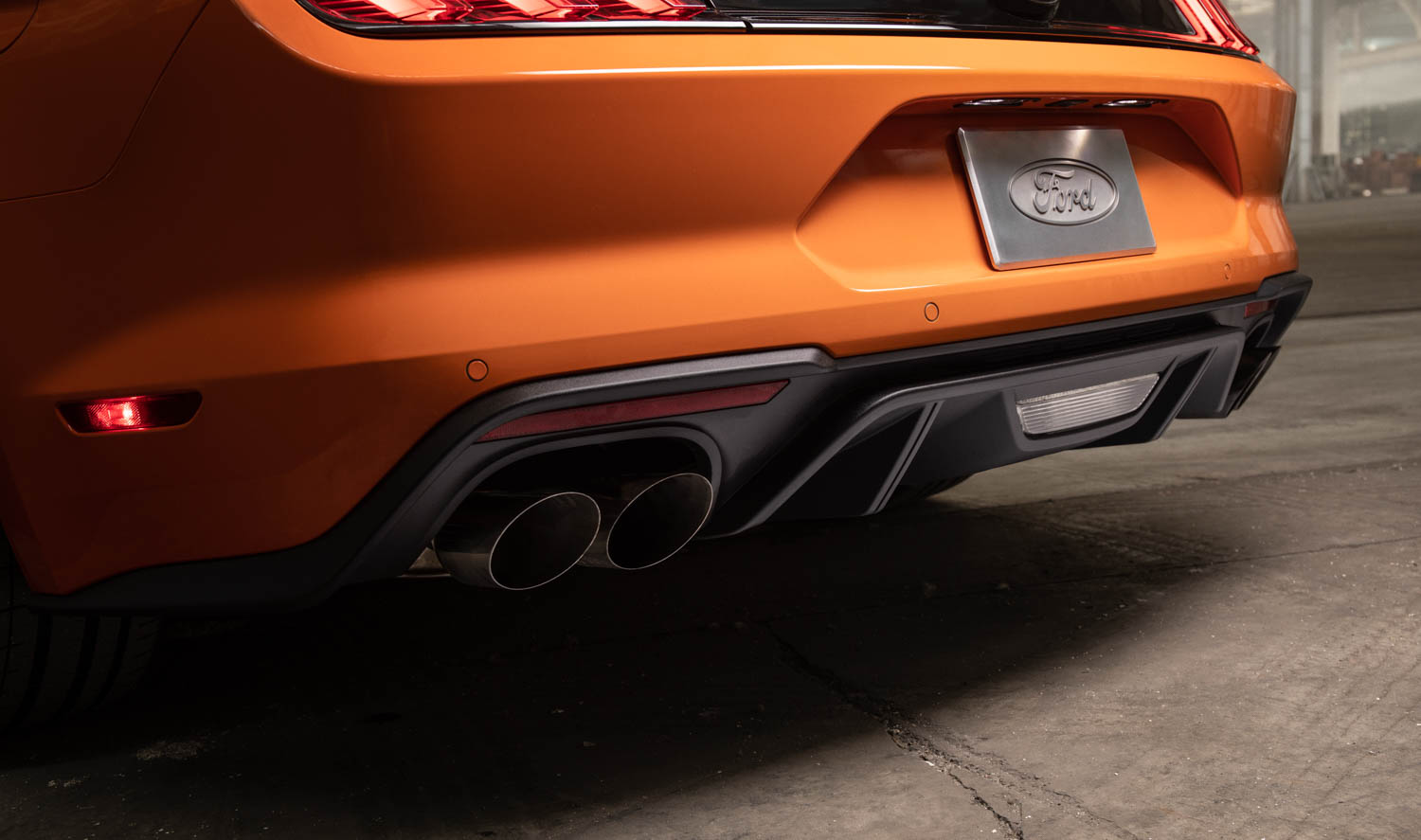 2020 Ford Mustang High Performance Package rear bumper