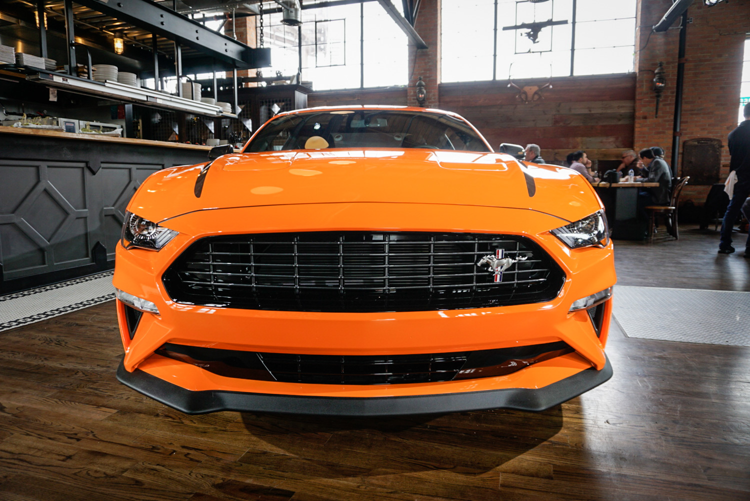 2020 Ford Mustang Ecoboost High Performance Package font end detail