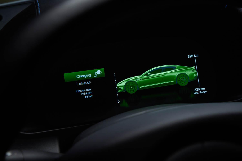 Aston Martin Rapide E display