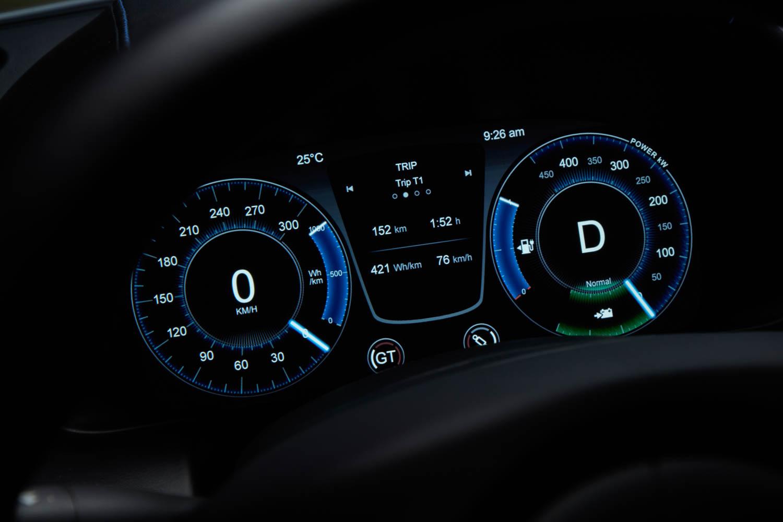 Aston Martin Rapide E electric gauges