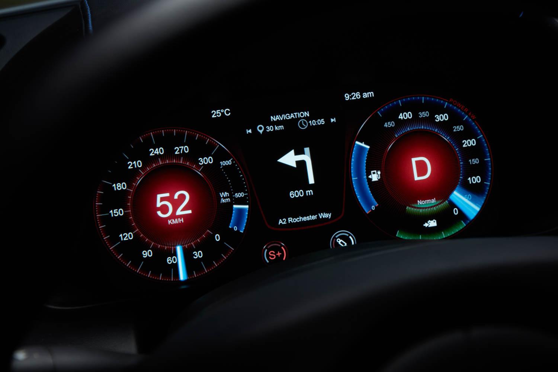 Aston Martin Rapide E gauges