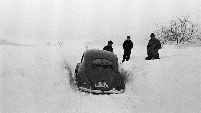VW 39 prototype in the snow