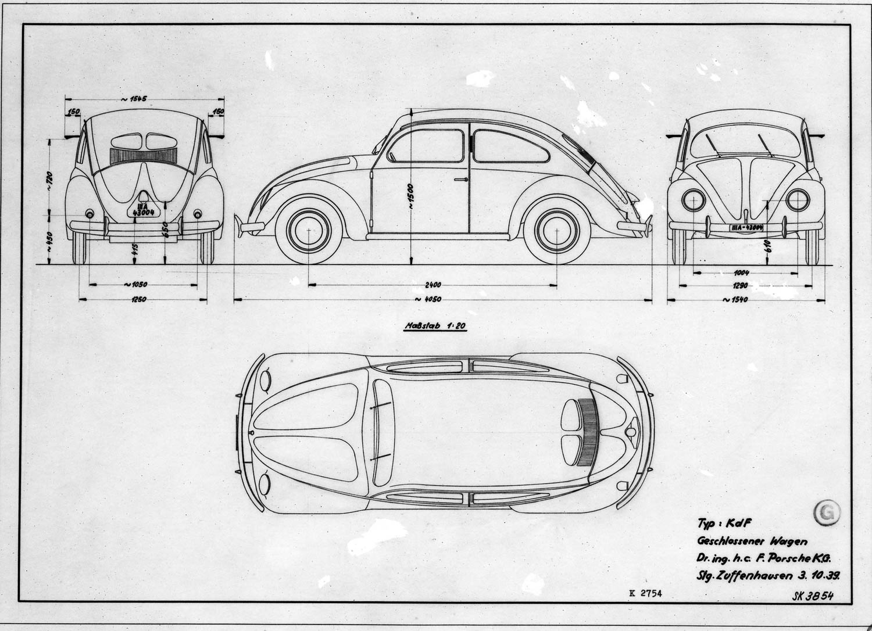 VW 39 prototype drawn