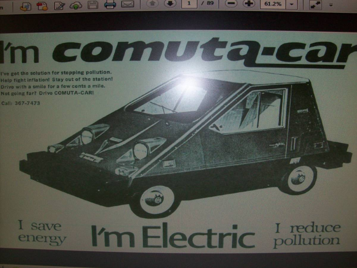 1980 Comuta-Car advertisement