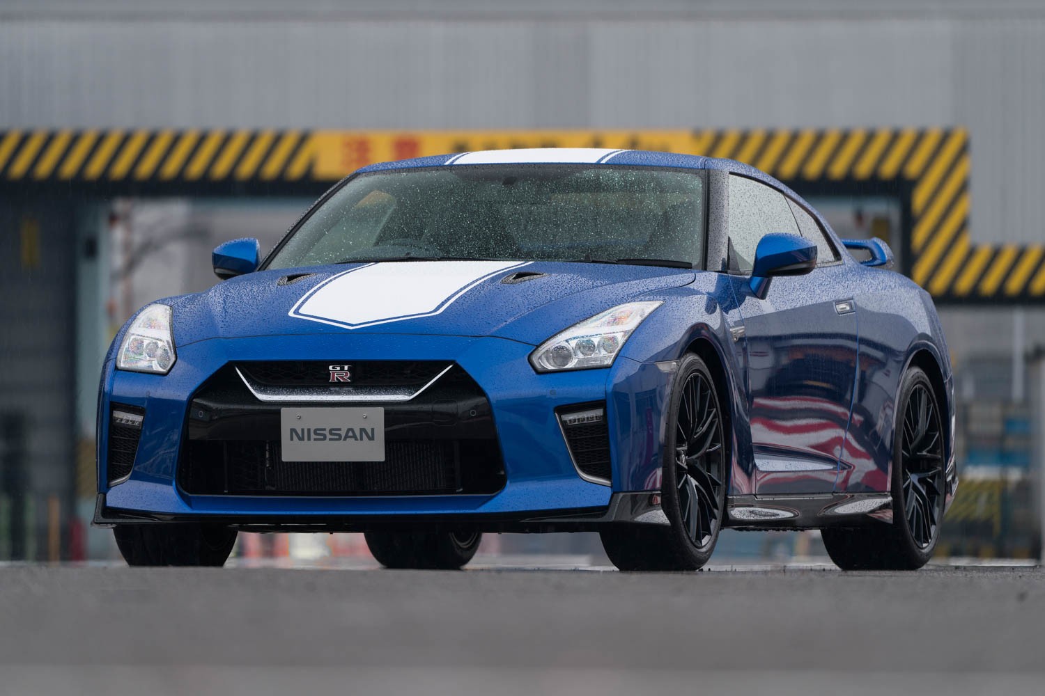 Nissan 50th Anniversary GT-R in the rain
