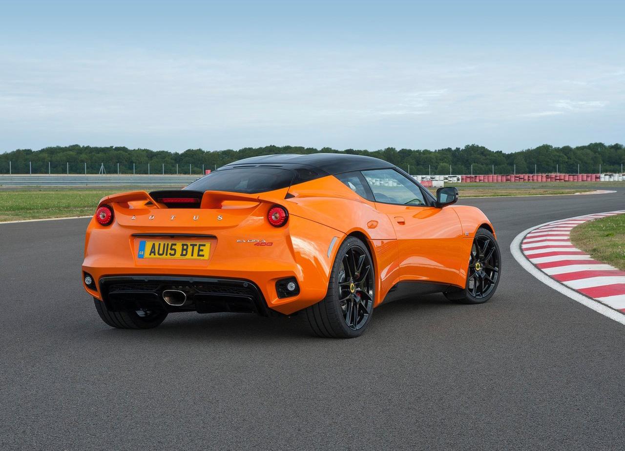 2016 Lotus Evora 400 rear 3/4