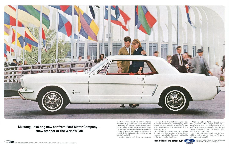 Worlds fair mustang advert