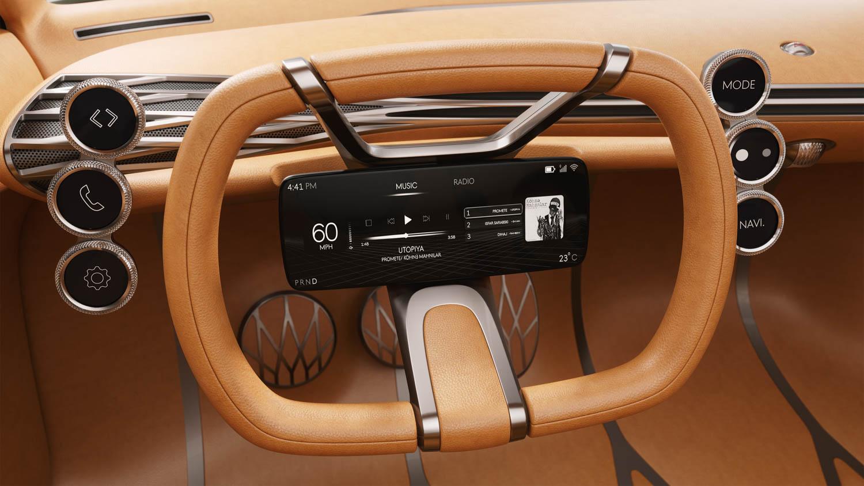 Genesis Mint Concept steering wheel