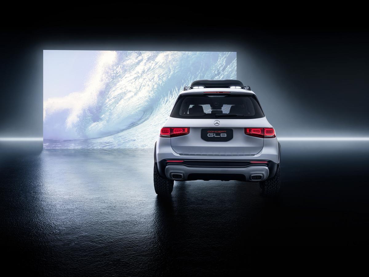 Mercedes-Benz GLB rear screen