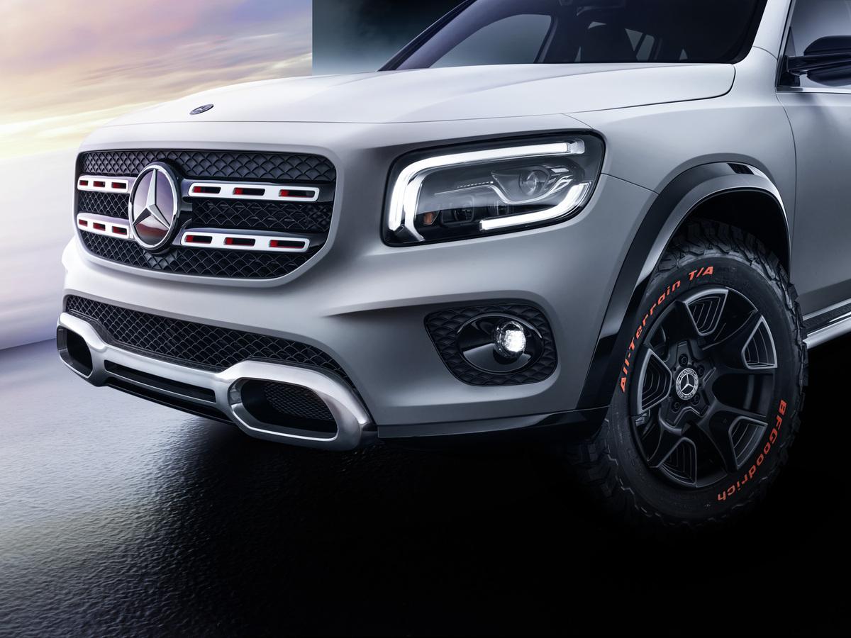 Mercedes-Benz GLB Concept front grille detail