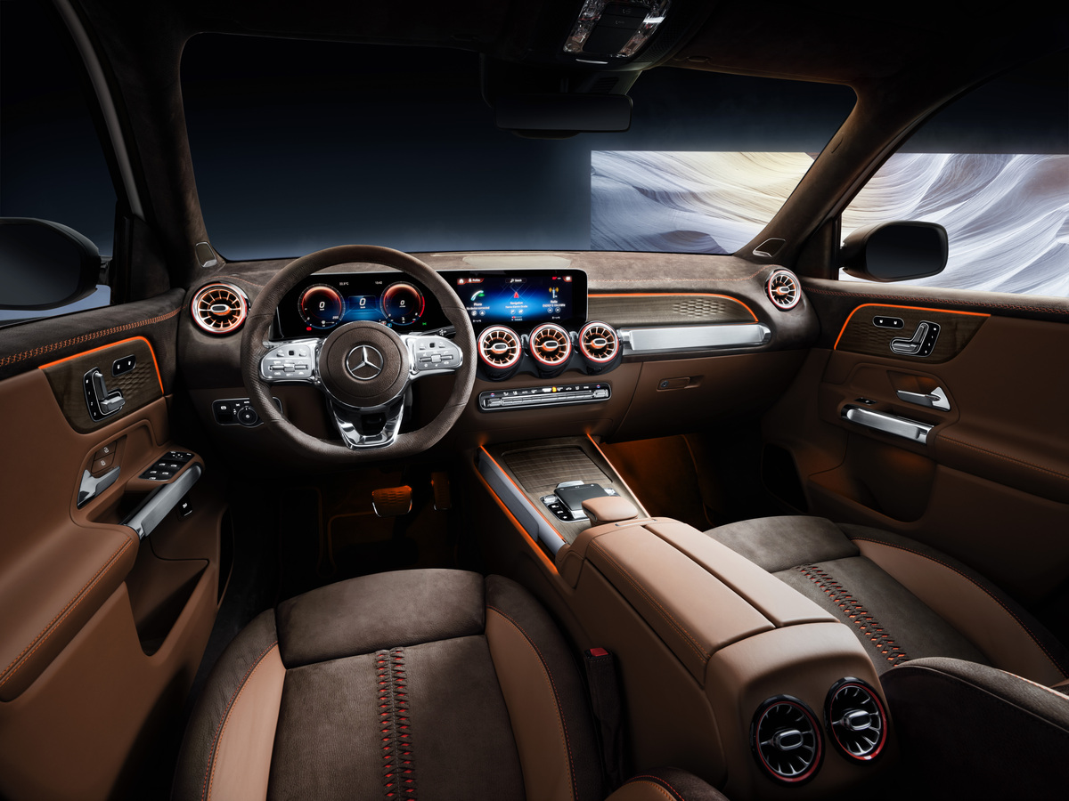Mercedes-Benz GLB Concept interior suede driver seat