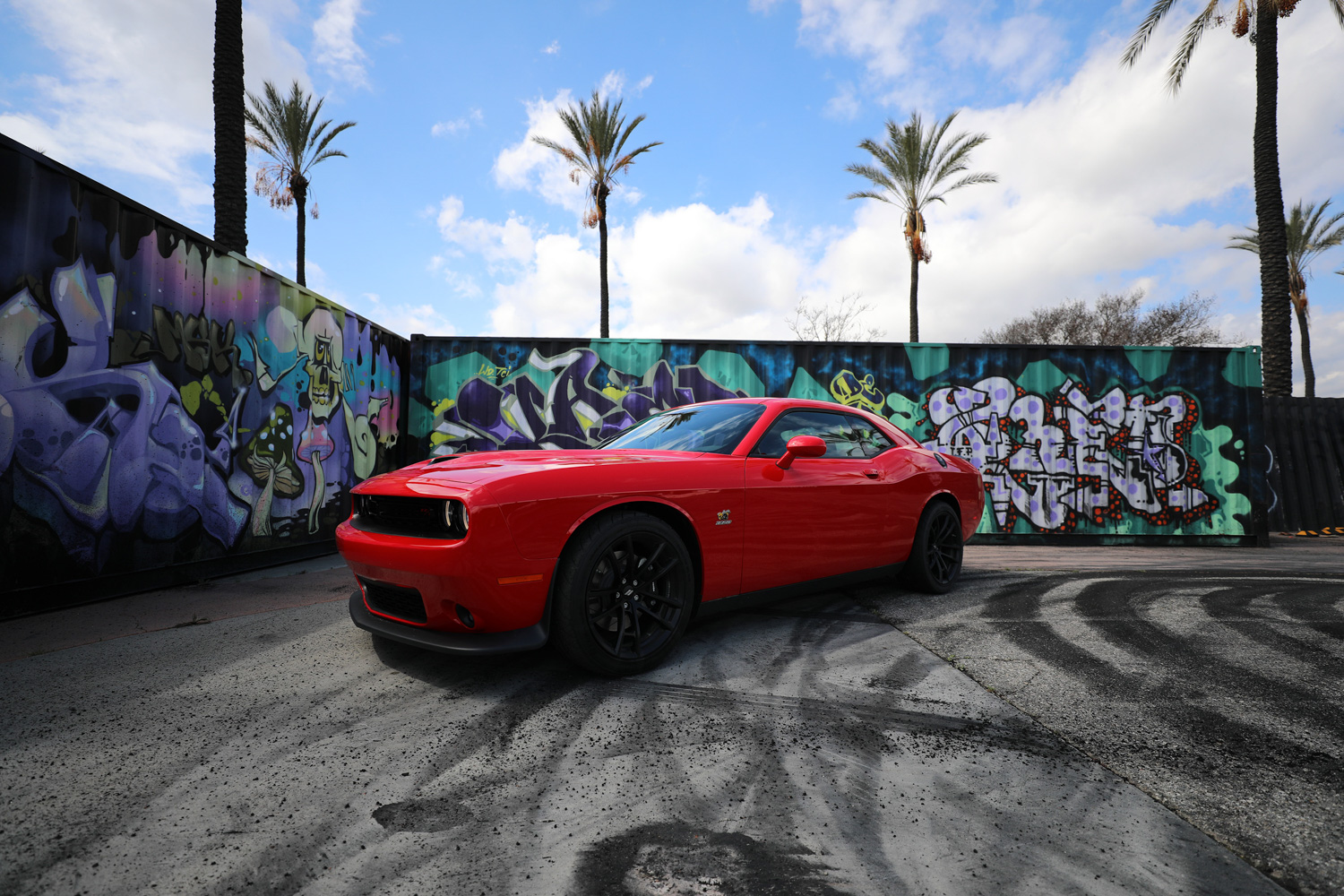 "2019 Dodge Challenger R/T Scat Pack 1320 ""Angry Bee"" hoonigan burn yard"