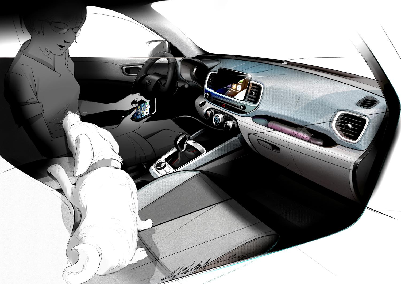 Hyundai Venue interior passenger