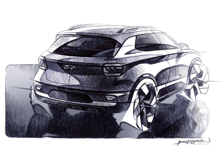 Hyundai Venue 3/4 rear