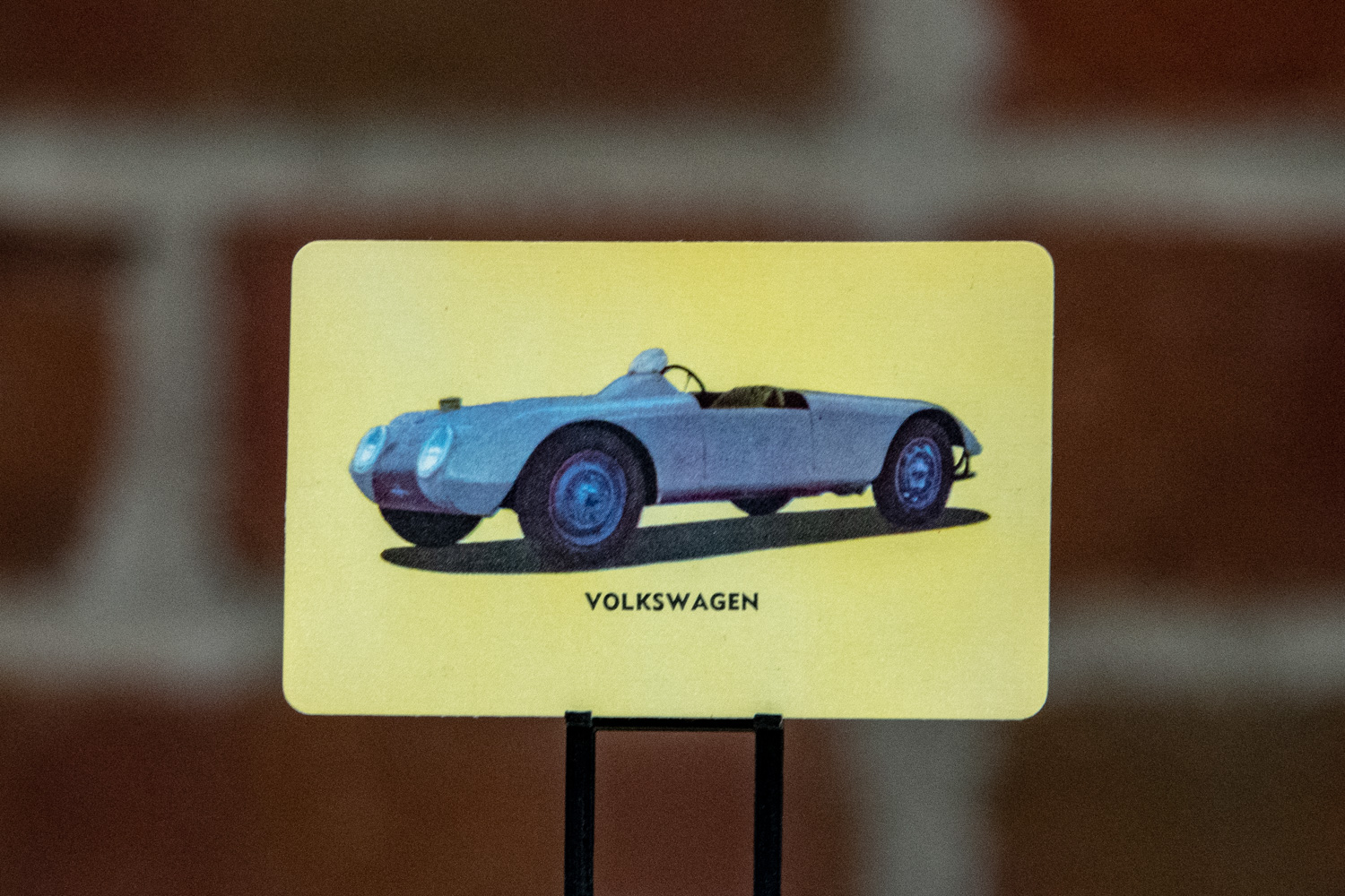 "Among the sports cars in the set is one simply titled ""Volkswagen,"" although it hardly looks like one."
