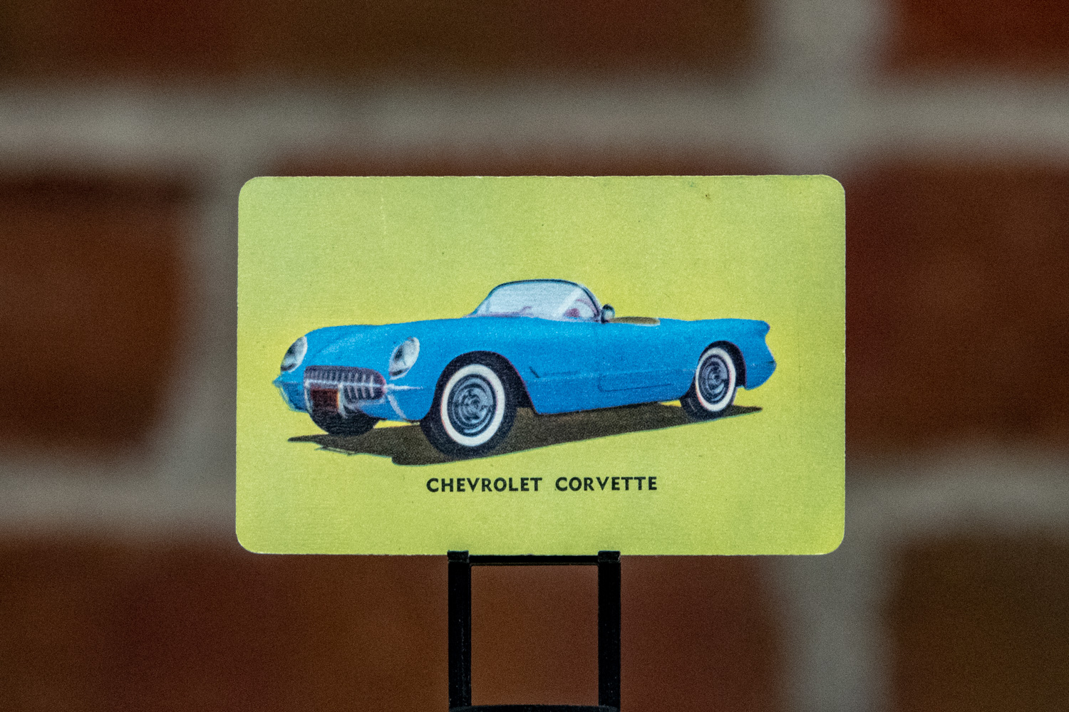 "Mother's included ""America's Sports Car"" in the set, in either Pennant Blue or Arctic Blue, which really pops with a green background."