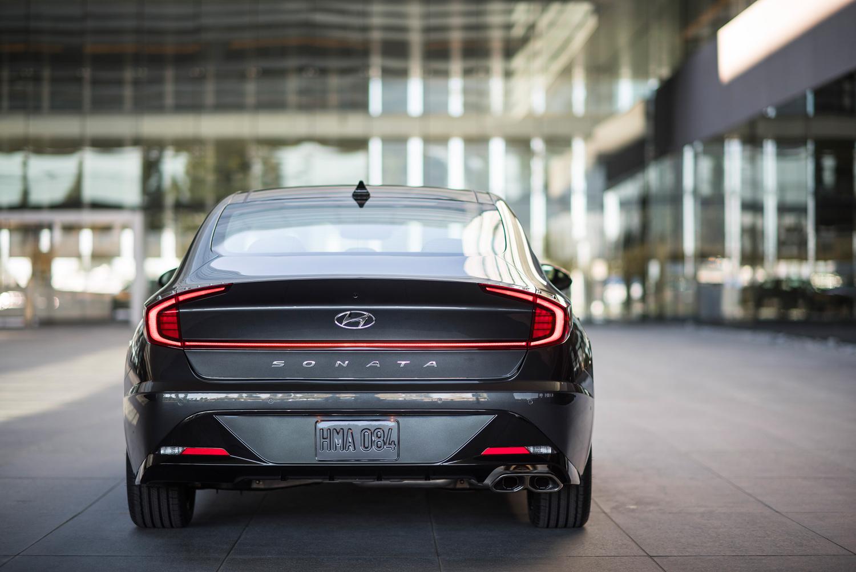 2020 Hyundai Sonata rear detail