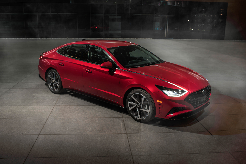 2020 Hyundai Sonata 3/4 front red