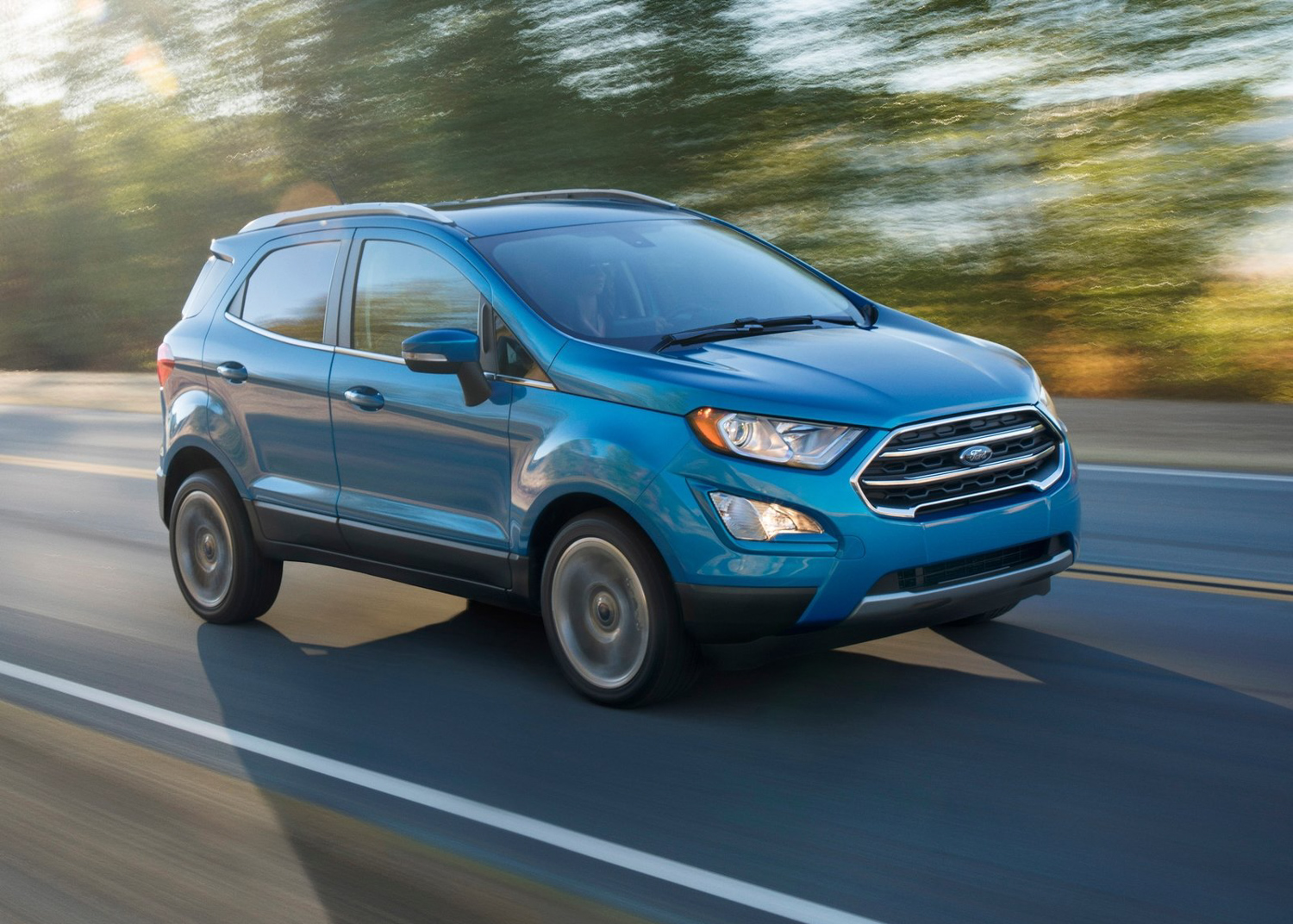 2018 Ford EcoSport side driving