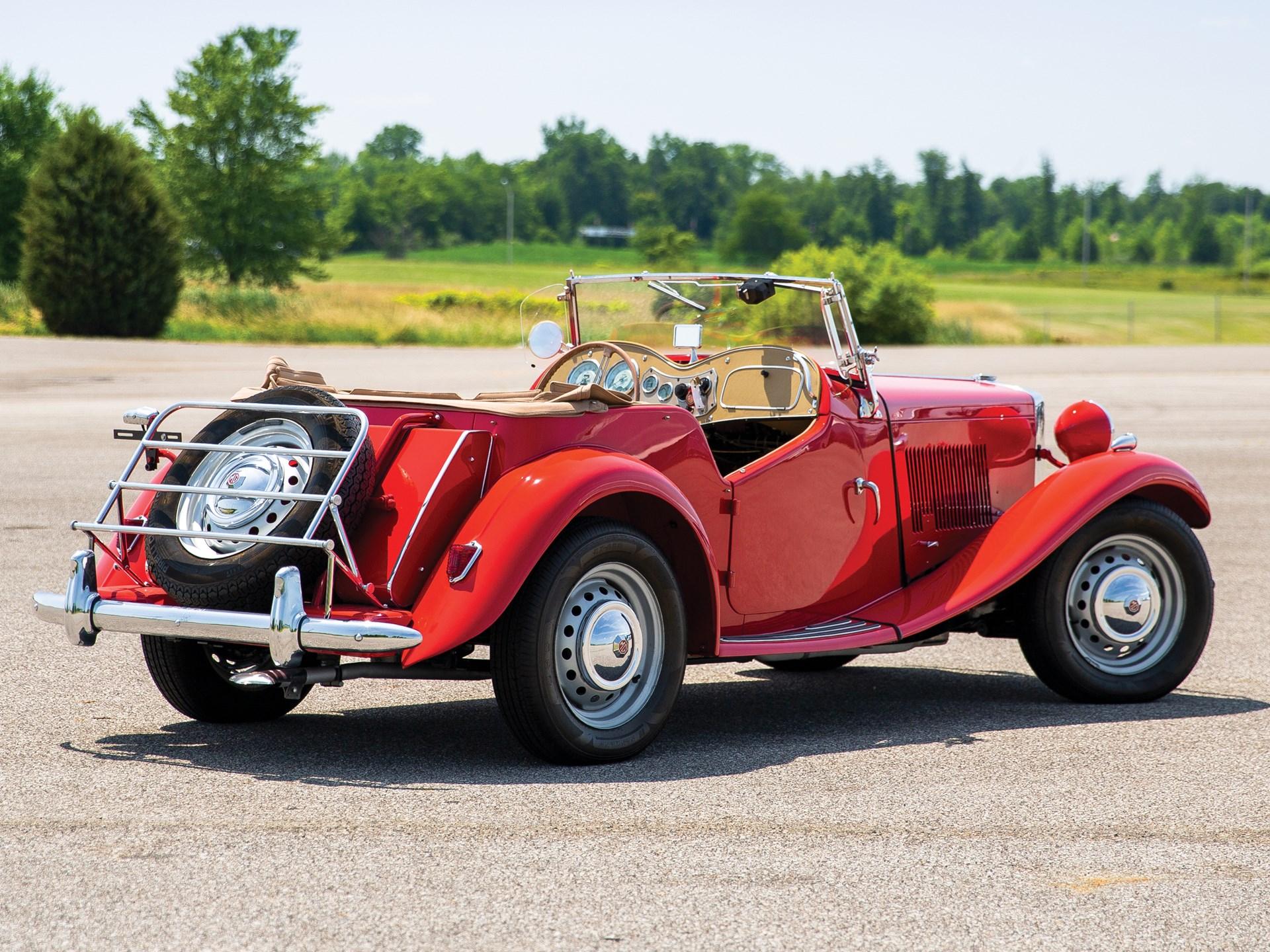 1952 MG TD 3/4 rear