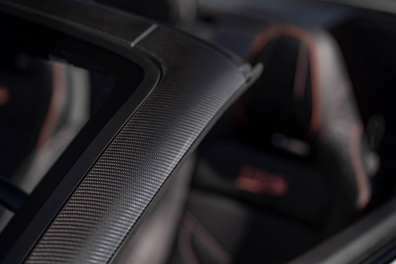 Aston Martin DBS Superleggara Volante carbon fiber detail