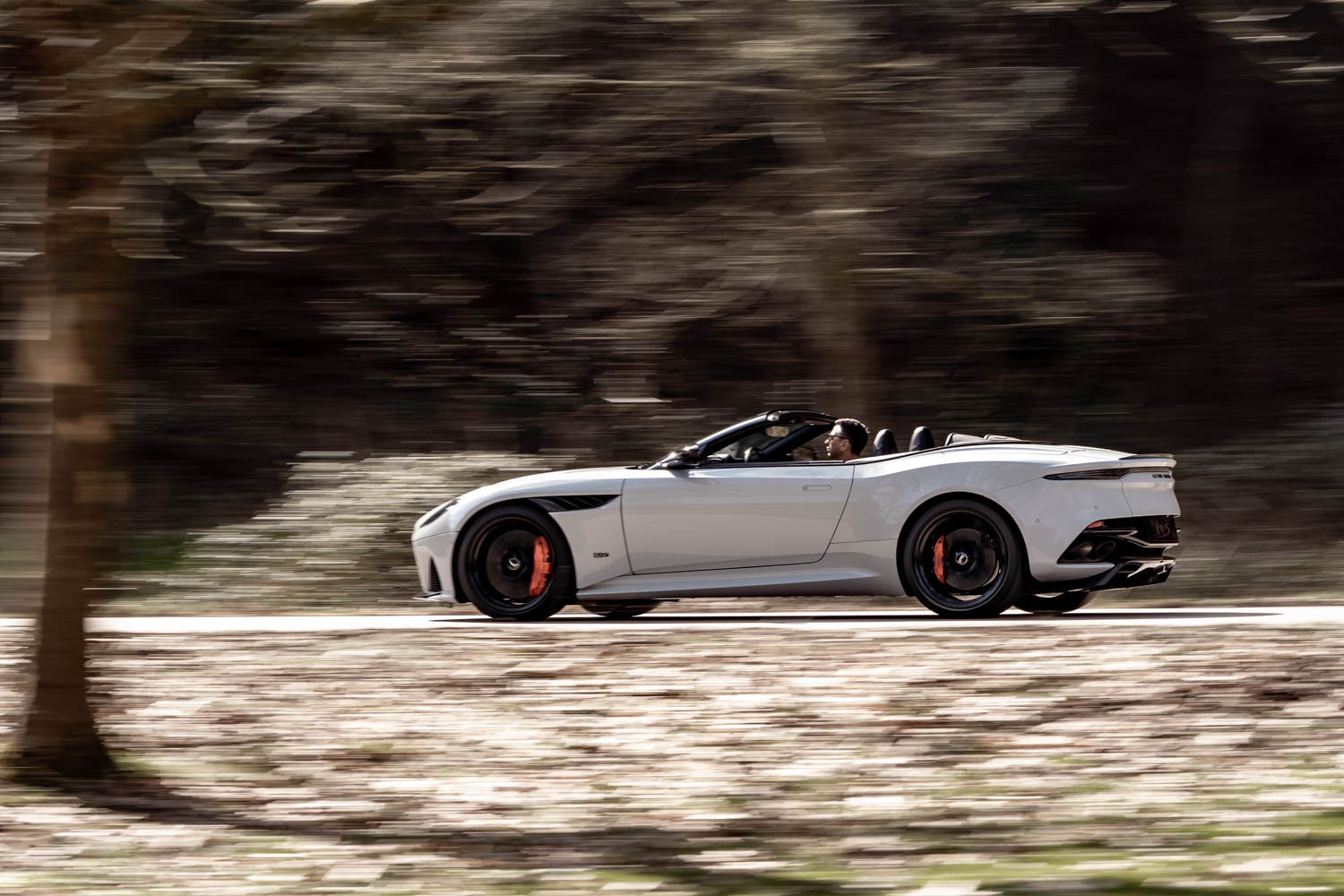 Aston Martin DBS Superleggara Volante driving