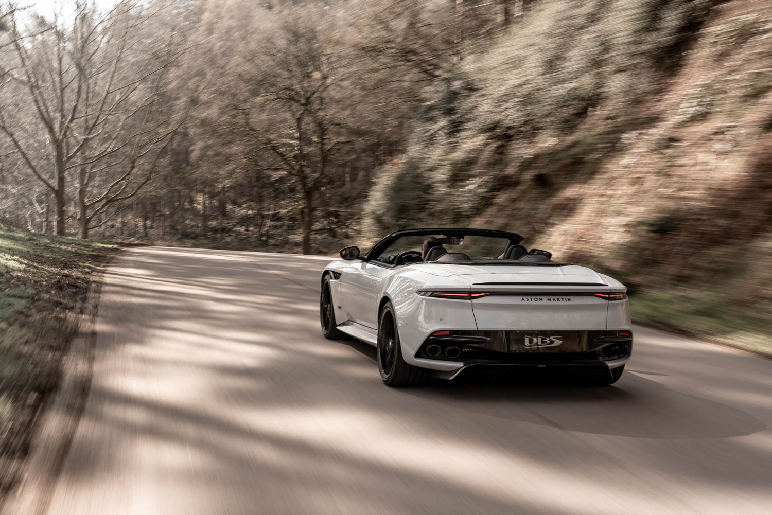 Aston Martin DBS Superleggara Volante rear 3/4
