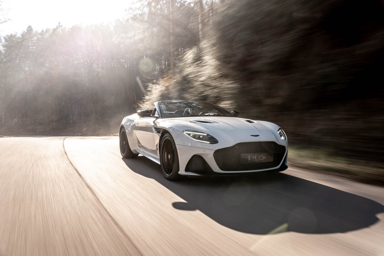 Aston Martin DBS Superleggara Volante front 3/4 driving