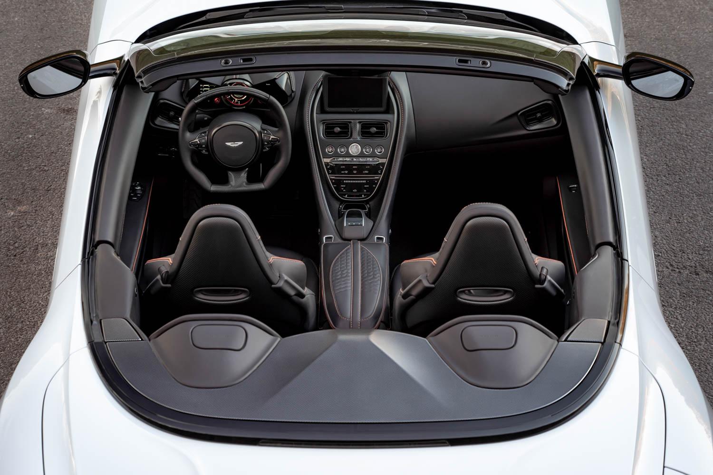 Aston Martin DBS Superleggara Volante overhead interior