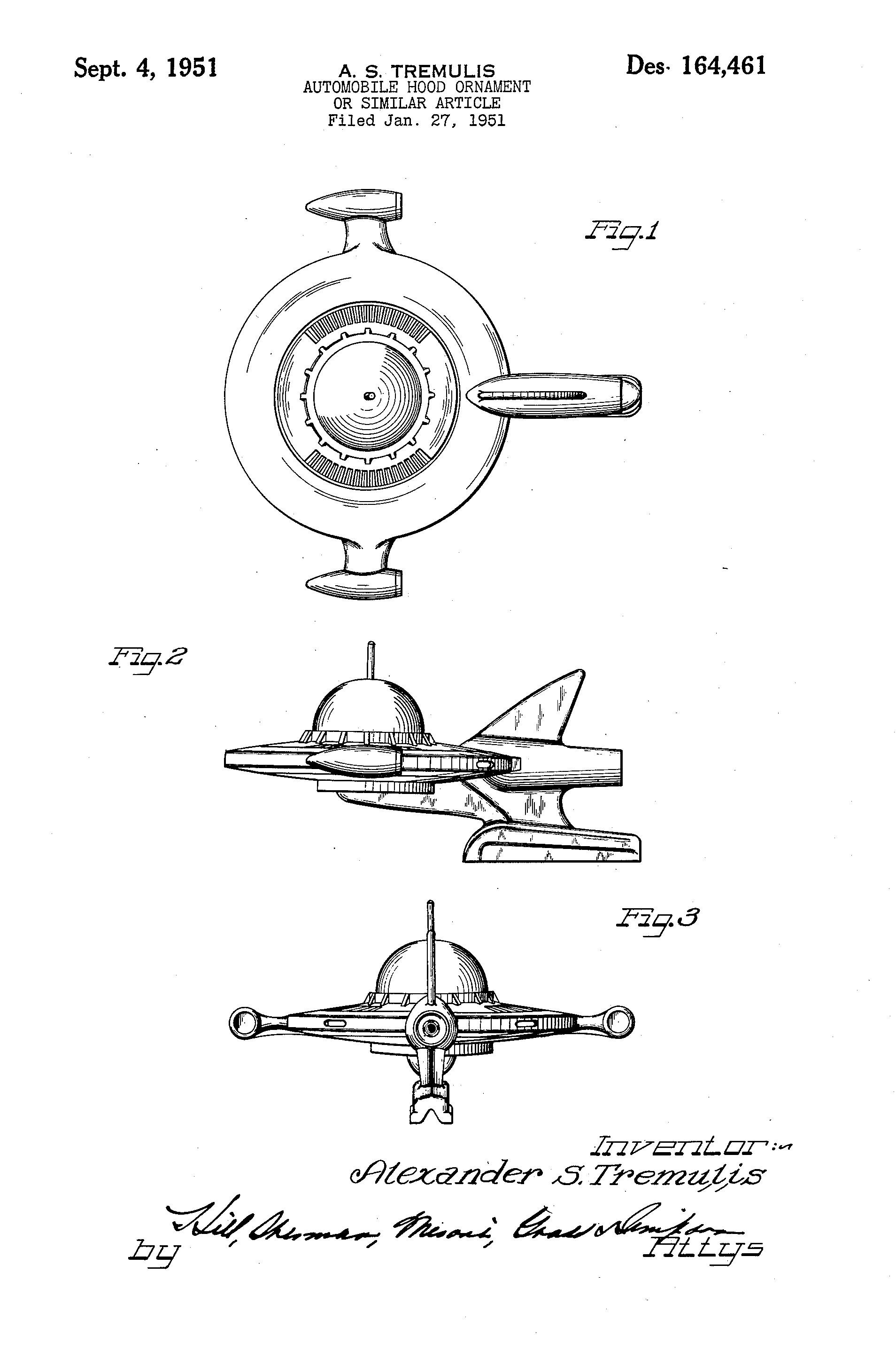 flying saucer hood ornament