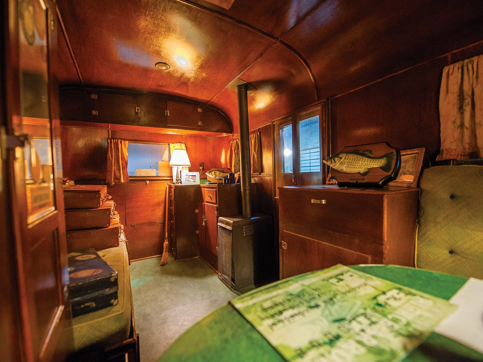 1937 Pierce-Arrow Model C Travelodge interior kitchenette