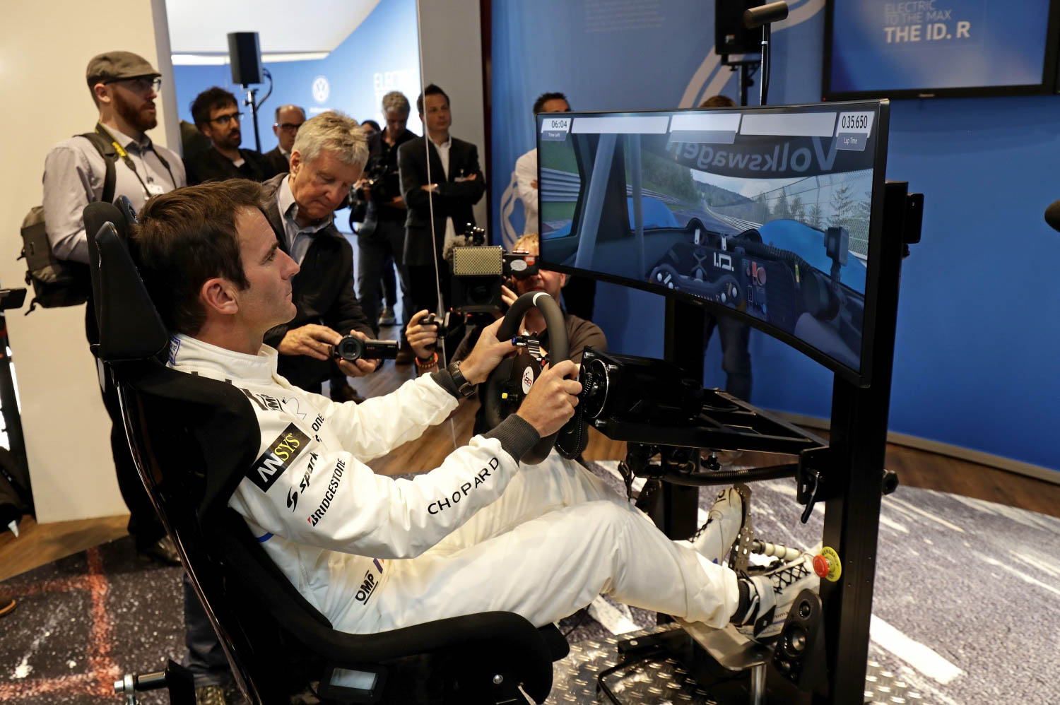 Volkswagen ID. R electric race car driving simulator