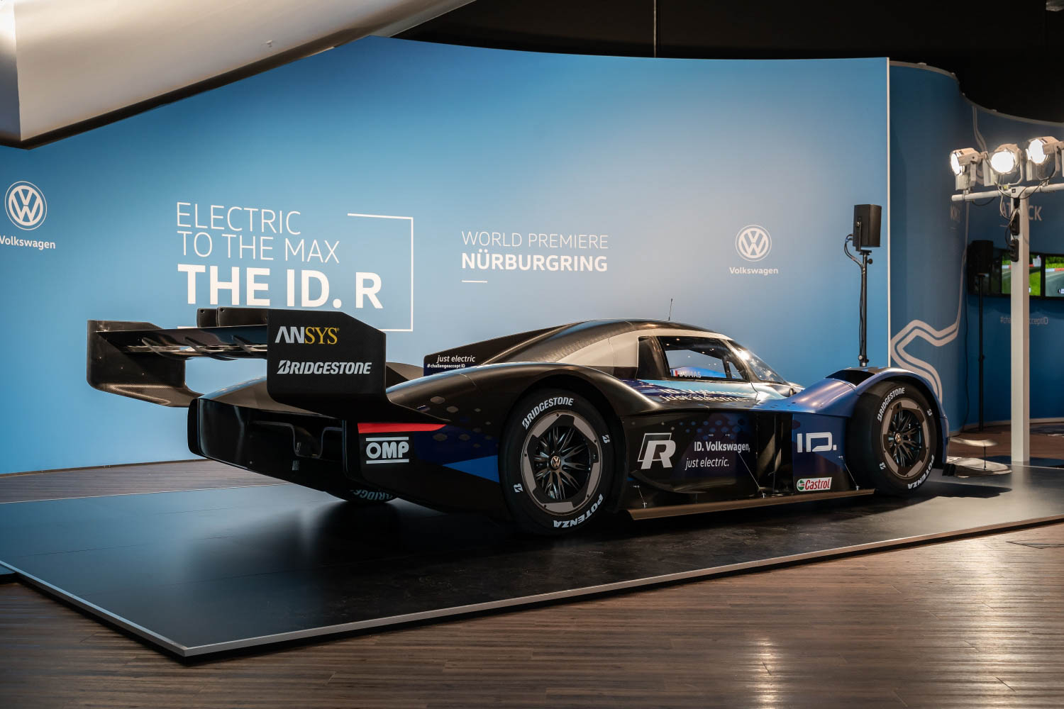 Volkswagen ID. R electric race car rear 3/4