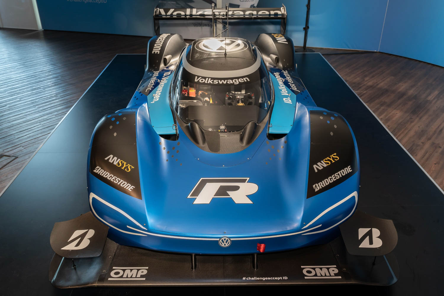 Volkswagen ID. R electric race car front