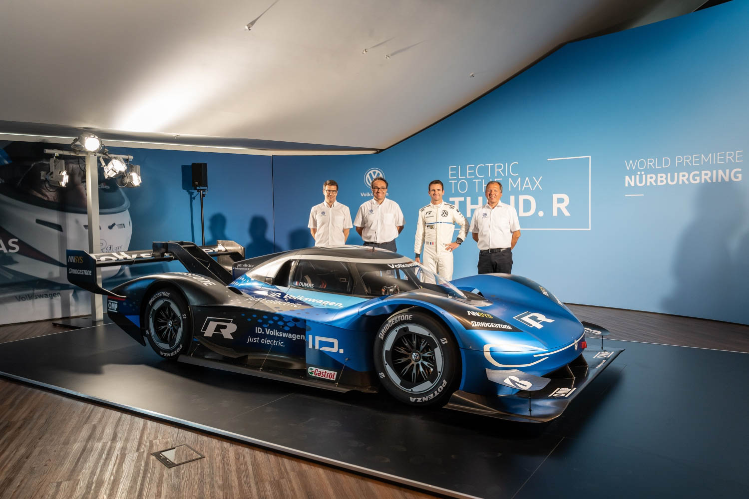 Volkswagen ID. R electric race car reveal