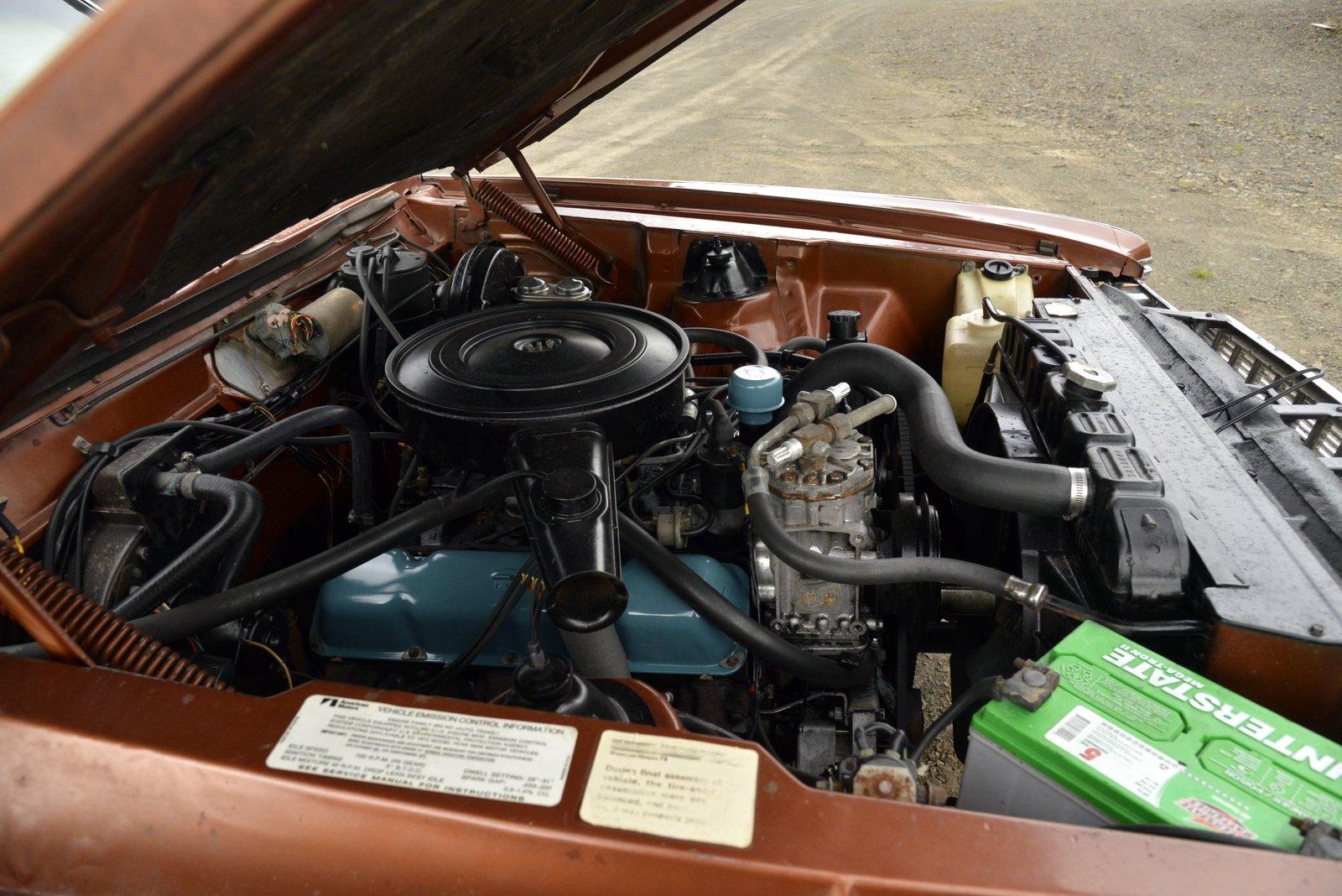 1972 AMC Ambassador Brougham Wagon engine