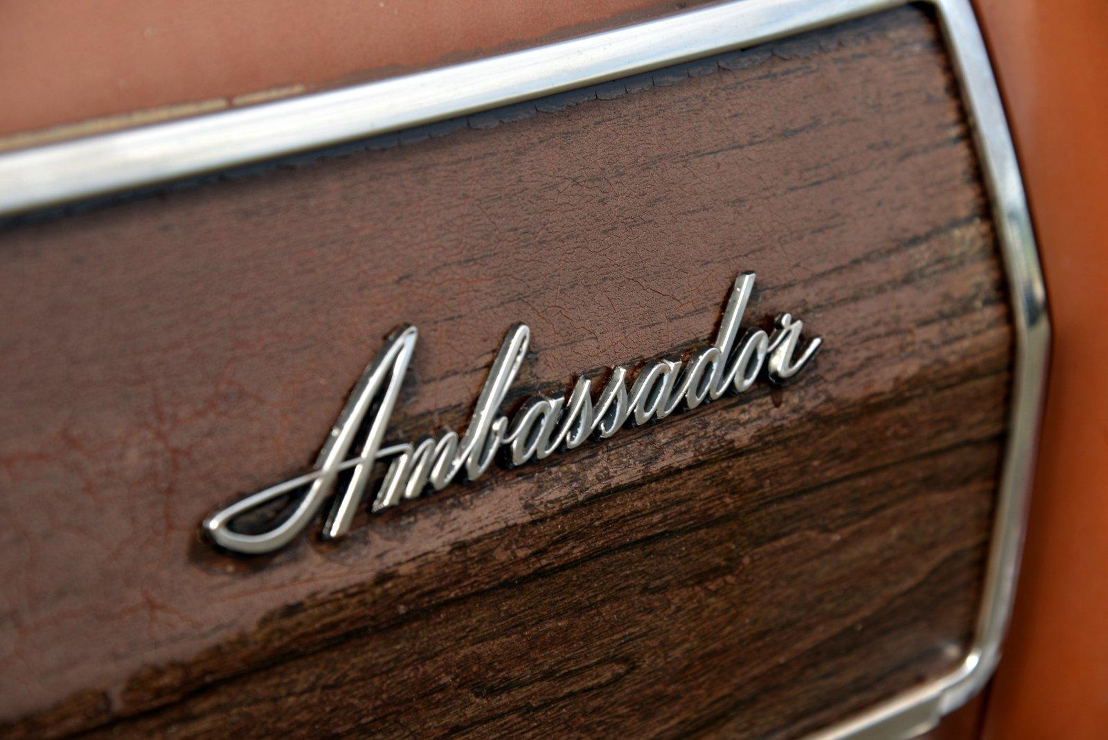 1972 AMC Ambassador Brougham Wagon badge