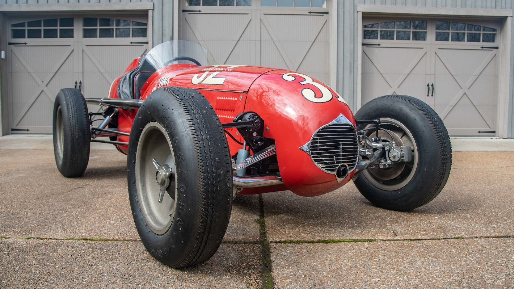 1952 Kurtis Kraft 4000 Indy Car 3/4 low tire