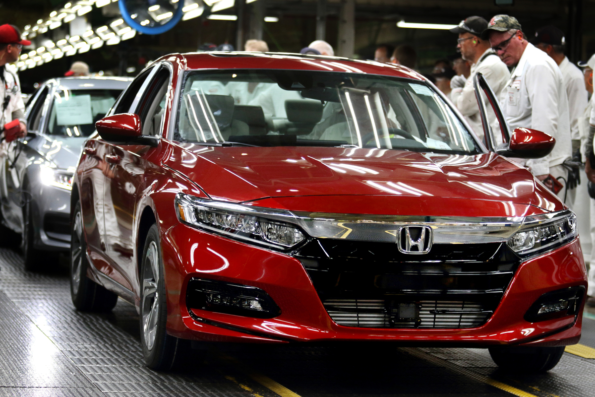 Honda marysville auto plant new accord red